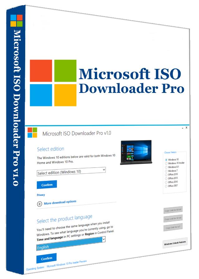 Microsoft ISO Downloader Pro v1.0