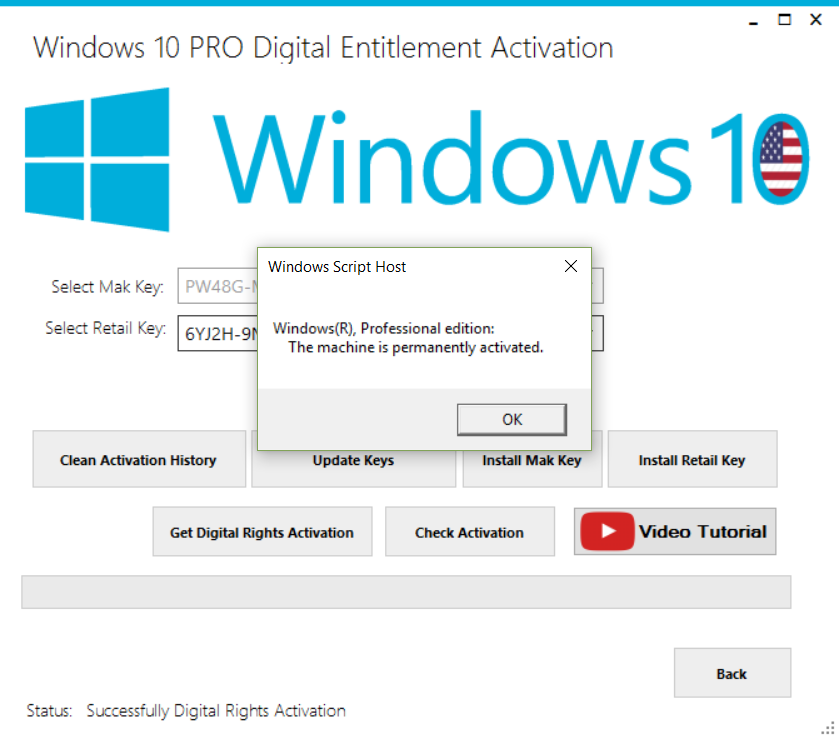 Windows 10 Permanent Activator Ultimate v1.8